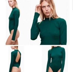 NWT Aritzia TALULA Peekaboo Seamoss Bodysuit XS